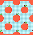 red apples seamless pattern vector image