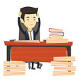 despair business man working in office vector image