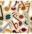 Seamless pattern with music signs vector image