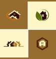 Eco house logos vector image
