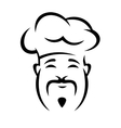 Cheerful chinese chef with a moustache vector image vector image