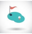 Golf single icon vector image vector image