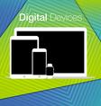 modern digital devices sets geometric background vector image
