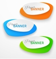 Set of oval colorful paper origami banners vector image