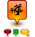tropical speech comic icons vector image