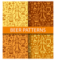 beer pattern vector image vector image