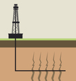 fracking diagram vector image vector image