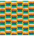 geometric orange yellow blue background patterns vector image