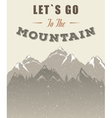 Mountain Poster with Quote vector image