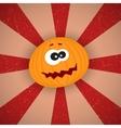 Funny Cartoon Pumpkin vector image vector image