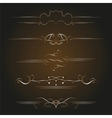 calligraphic old elements vector image