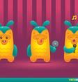 Cute Pineapple Pinata Monsters vector image