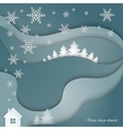 Decorative winter landscape vector image