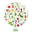 fresh salad food nutrition healthy concept vector image