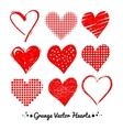 Grunge Valentine hearts vector image