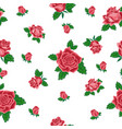 seamless pattern from red roses vector image