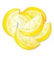 Sliced lemon vector image