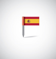 spain flag pin vector image