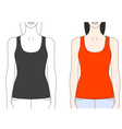 strap tank top template vector image