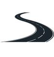 Winding road vector image