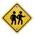 school crossing traffic sign icon vector image