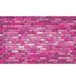 Pink brick wall vector image