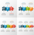 set of puzzle style infographic templates vector image