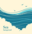 sea wavesseascape horizon for text vector image vector image