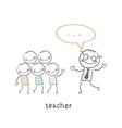 teacher vector image vector image