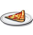 slice of salami pizza vector image