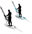 Windsurfing water sports vector image vector image