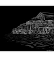 Waterside sketch vector image vector image