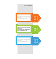 infographic options three color vector image