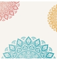 Elegant background with lace ornament vector image