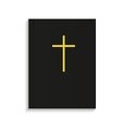 bible on white background Eps 10 vector image