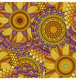 Ethnic seamless background vector image