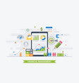 financial management vector image