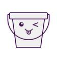 laundry bucket kawaii character vector image