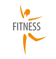 logo for the dancing girl of fitness club vector image