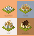 different construction stages isometric vector image