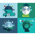 Set of flat design concept icons for web vector image vector image