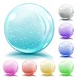Opaque glass spheres vector image