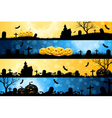 Four Halloween Banners vector image