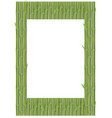 bamboo branches in vertical position frame vector image