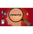 dementia brain memory problem head neurology vector image