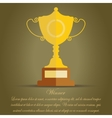 Golden Cup Winner Award - vector image
