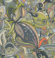 Hand-drawn abstract seamless pattern vector image