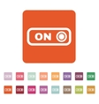 The on button icon Switch symbol Flat vector image