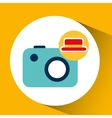 travel tourist hat concept photo camera vector image