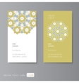 Visit cards set with arabic ornament vector image